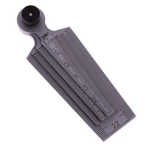Taper Feeler Gauge Gage Depth Ruler Gap Inspection Stainless Steel 0-29mm