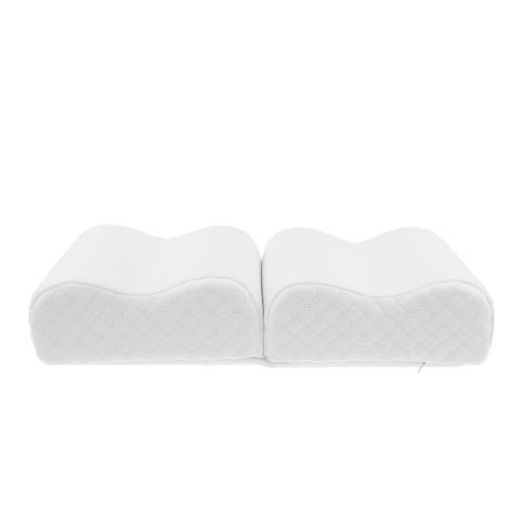 Dual Memory Foam Leg Knee Pillow for Side Sleepers back pain,Sciatic Nerve Pain Relief,Leg Pain, Pregnancy, Hip and Joint Pain Ergonomical Design White