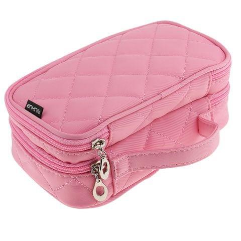 Women Girls Travel Cosmetic Makeup Bag Toiletry Bag Pink