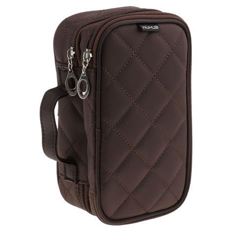 Women Girls Travel Cosmetic Makeup Bag Toiletry Bag Coffee