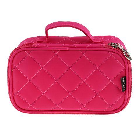 Women Girls Travel Cosmetic Makeup Bag Toiletry Bag Rose Red