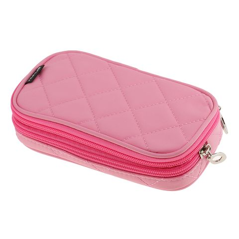 Women Girls Travel Cosmetic Makeup Bag Toiletry Storage Case Travel Accessory Pink