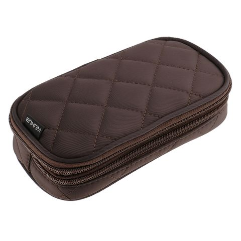 Women Girls Travel Cosmetic Makeup Bag Toiletry Storage Case Travel Accessory Brown