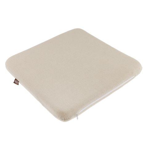 Comfortable Breathable Linen High Rebound Memory Foam Chair Back Seat Cushion Beige