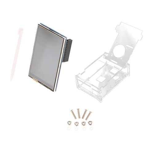 3.5 inch 320x480 Resolution TFT LCD Display with Case for Raspberry pi 3