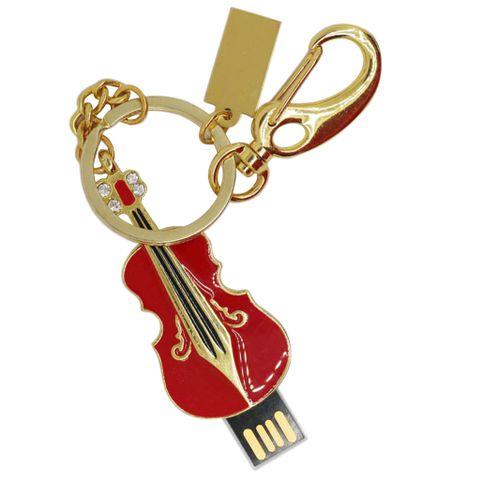 Violin Pen Drive U Disk Slim Gift Flash Stick Memory USB for Laptop Red 32GB