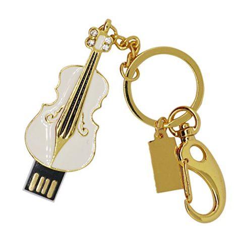 Violin USB Flash Pen Slim Drive Pendrive Memory Stick for Computer White 32GB
