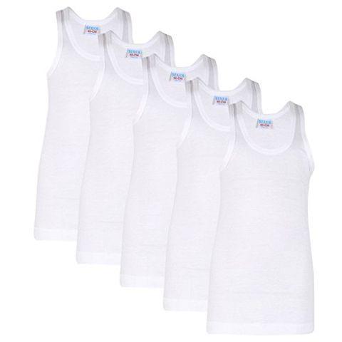 Sixer Boy's White color Vest - White