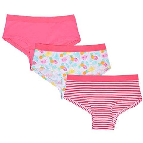 Charm n Cherish Girls Hipster Briefs Leaf Print (Pack of 3) || 2-12 Years (GWHIP1)