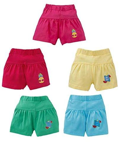 OHMS Dress Collection Girls Regular Sports Skirt Shorts Multi-Color Pack of 5