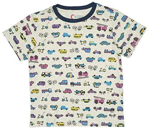 Charm n Cherish Kids Boys T-Shirt Car Printed (BW101) ||2-12 Yrs Tops Casual wear