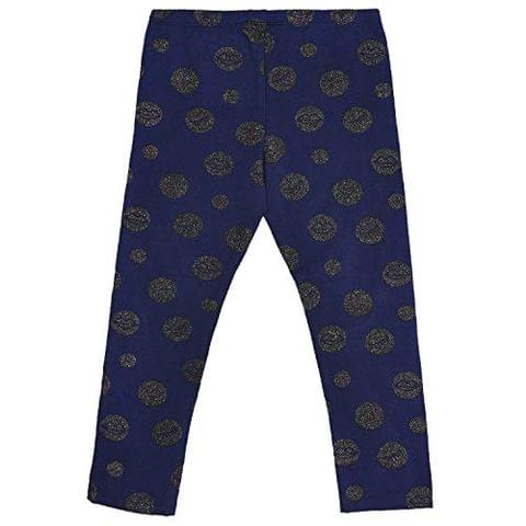Navy Blue Leggings With polka dots (GW107)