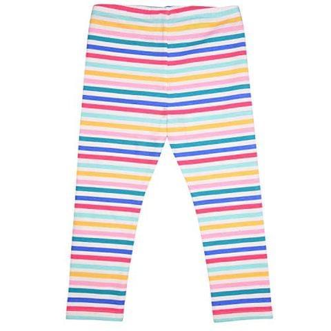 Rainbow Color Striped cotton Leggings (GW108)