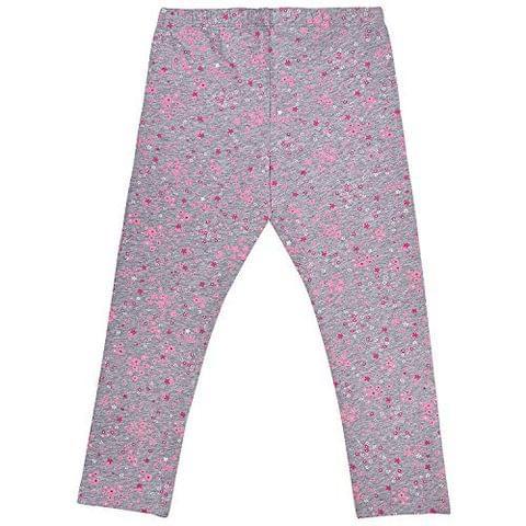 Charm n Cherish Grey Color Floral Printed Leggings for Kids (GW110)