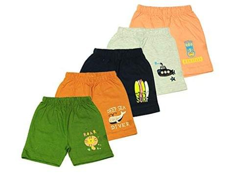 OHMS Boys Cotton Regular Shorts Pack of 5