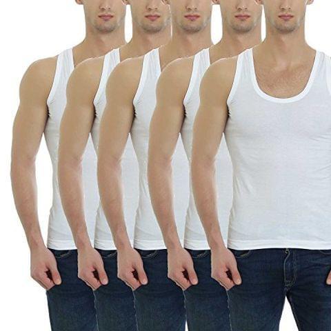 GBROS Mens Cotton Vest Pack of 5 Innerwear Underwear