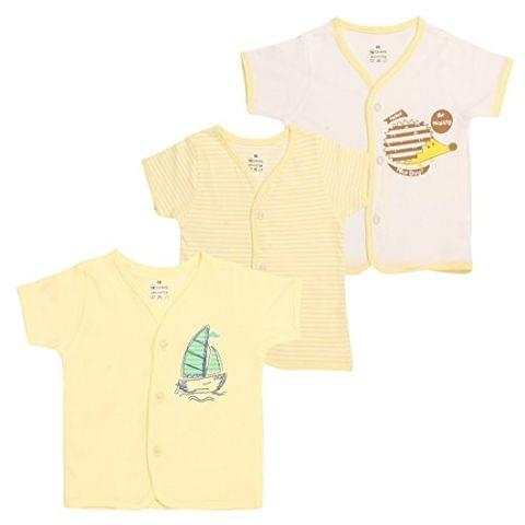 OHMS Baby Cotton Front Open Vest