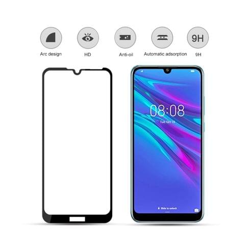 Buy mocolo 0.33mm 9H 2.5D Silk Print Tempered Glass Film for Huawei Y6 2019 (Black)
