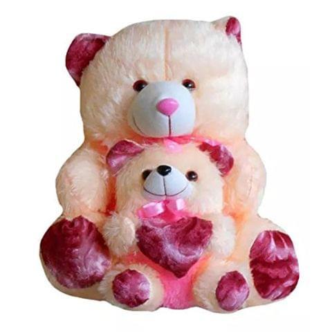 Cream & Pink Baby Teddy Bear 65 cm - 29 Inch