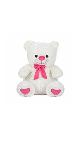 White & Pink Tie Color Teddy Bear 45 cm