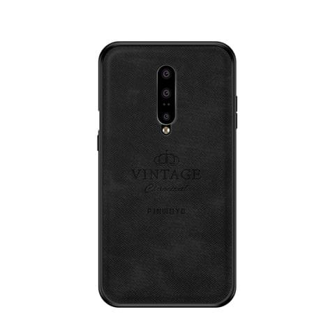 PINWUYO Shockproof Waterproof Full Coverage PC + TPU + Skin Protective Case for OnePlus 7 Pro(Black)