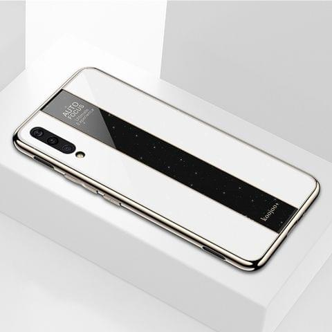 Electroplated Mirror Glass Case for Vivo IQOO (White)