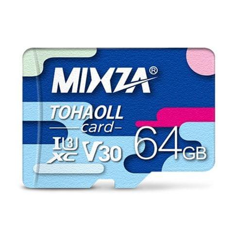 MIXZA 64GB High Speed Class10 Colorful TF(Micro SD) Memory Card