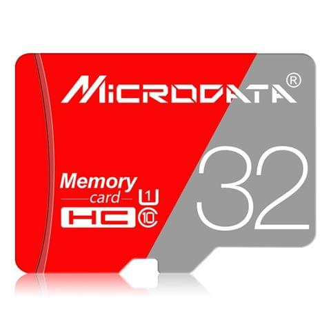 MICRODATA 32GB Class10 Red and Grey TF(Micro SD) Memory Card