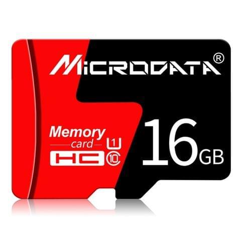 MICRODATA 16GB U1 Red and Black TF(Micro SD) Memory Card