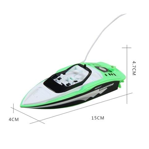 3392M 4-Channel 40MHz Rechargeable Mini Racing Boat RC Speedboat Children Toy with Remote Controller(Green)