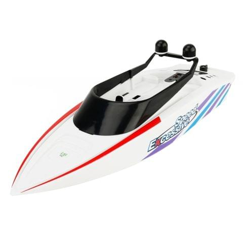 3323 4-Channel 2.4Ghz Radio Control Racing Boat RC Speedboat Kids Toy with Remote Controller(White)
