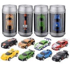 Coke Can Mini RC Car Radio Remote Control Micro Racing Car(Green+White)