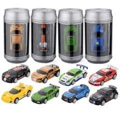 Coke Can Mini RC Car Radio Remote Control Micro Racing Car(Blue)