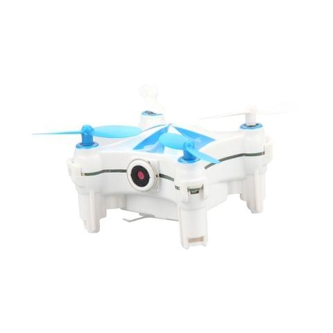 CX-OF 3D Flip 2.4GHz Mini Quadcopter with 0.3MP Camera & LED Light & Remote Control, Optical Flow Position, Headless Mode, One Key Return, Hovering (White+Blue)