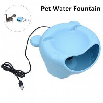Electric Pet Water Fountain Dispense Blue