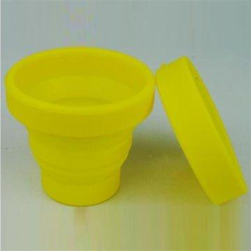 Retractable Folding Silicone Water Cup-Yellow