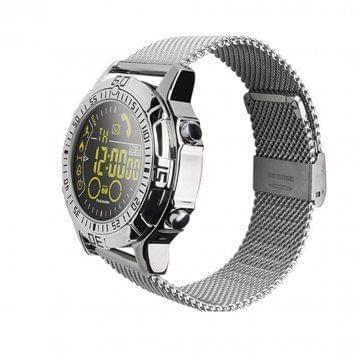 Smart Watch Heart Rate Test Silver Steel Belt