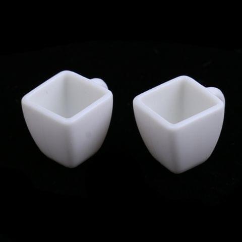 Eassycart 4 Pieces Miniature Milk Tea Cups Mugs Dollhouse Tableware Accessories 1/12