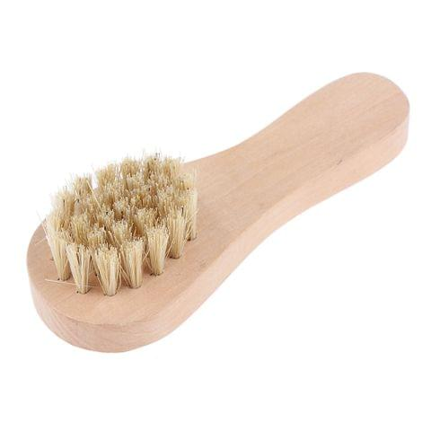Eassycart Portable Wooden Handle Shoe Brush Care Shine Polish Cleaning Practical Tool 10 x 3.5 cm