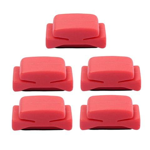 Eassycart Guitar Pick Holder 5pcs Red Plastic Cement Plectrums Fix on Guitar Headstock