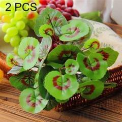 2 PCS Artificial Plants For Plastic Flowers Household Store Supplies Decoration Copper Grass Leaf