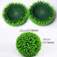 Artificial Green Eucalyptus Plant Ball Topiary Wedding Event Home Outdoor Decoration Hanging Ornament, Diameter: 17 inch