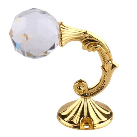 2 PCS Retro Water Wafer Head Barb Curtain Decorative Wall Hook(Gold)