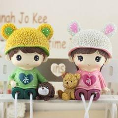 Creative Resin Crafts Hanging Feet Adorkable Couple Dolls Ornaments Home Wedding Decoration Gift