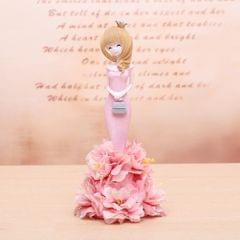Lovely Orchid Girl Style Resin Crafts Ornaments Room Decoration (Pink)