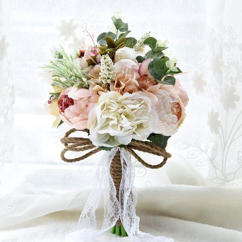 Wedding Holding Flower Bridal Bouquet Accessories Bridesmaid Party Wedding Decoration Supplies, Diameter: 24cm