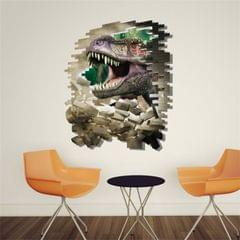 3D Home Decor Breaking Wall Dinosaur Removable Wall Stickers, Size: 60cm x 90cm