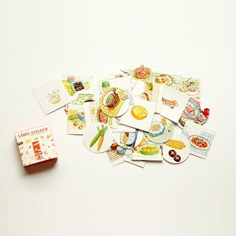 Foods Pattern Cartoon Decorative Sticker