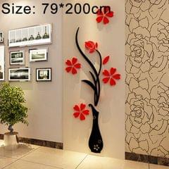 Creative Vase 3D Acrylic Stereo Wall Stickers TV Background Wall Corridor Home Decoration, Size: 79x200x4cm