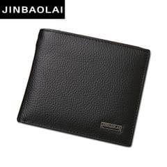 Genuine Leather Wallet Fashion Short Bifold Men Wallet Casual Soild Men Wallets With Coin Pocket Purses Male Wallets(Coffee)